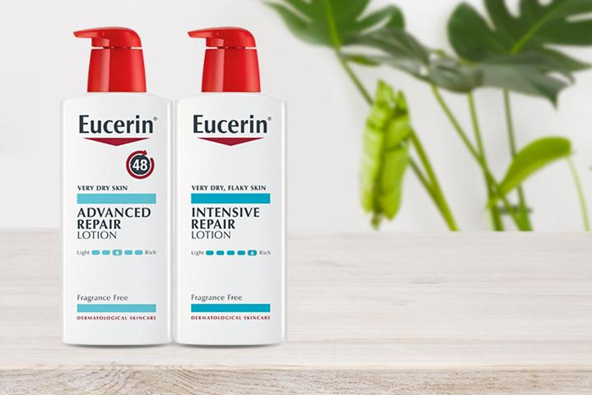 image of 2 bottles of Eucerin Advanced Repair Lotion