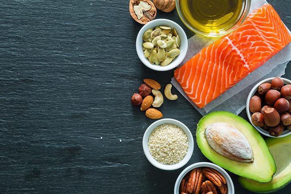 image of ingredients for keto diet