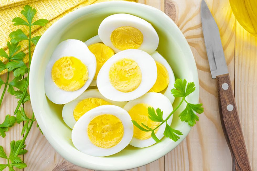 The Regimen Hard-Boiled Eggs With Minced Veggies