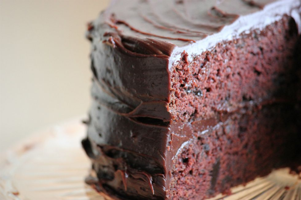 Super-Moist Chocolate Cake With Chocolate-Cinnamon Mousse