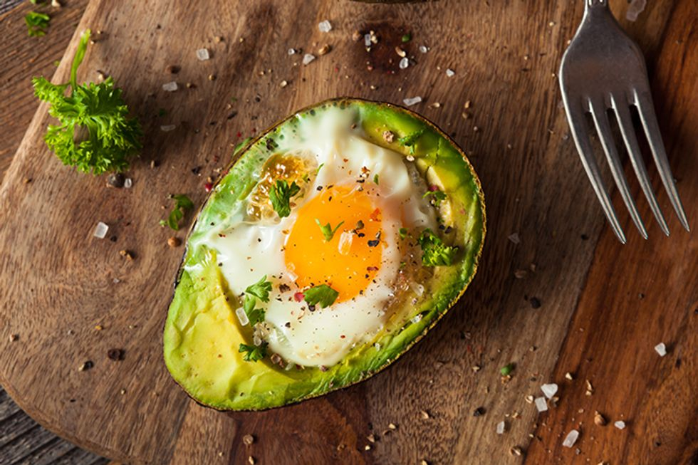 The 28-Day Shrink Your Stomach Challenge Baked Egg in Avocado