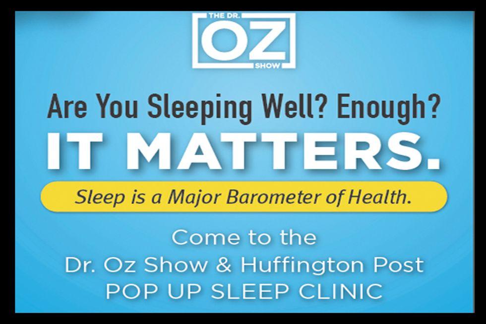Sleep Clinic: Join The Dr. Oz Show & Huffington Post