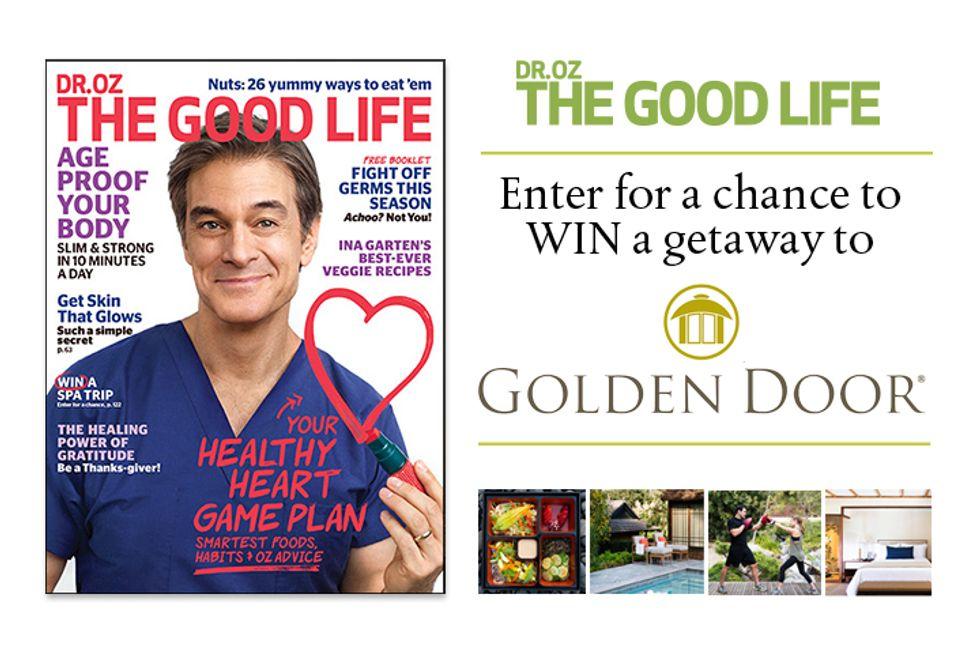 Dr. Oz The Good Life Golden Door Sweepstakes