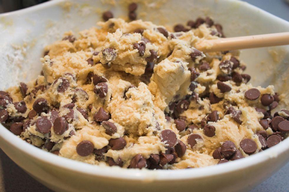 Greek Yogurt Chocolate Chip Cookie Dough Dip