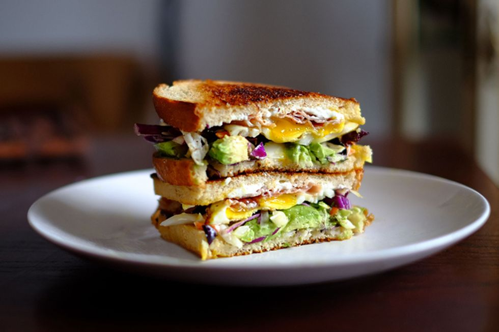 Sweet and Savory Egg Sandwich