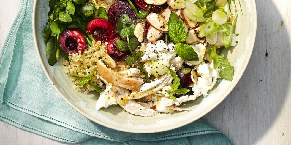 Quinoa Bowl with Chicken and Cherries