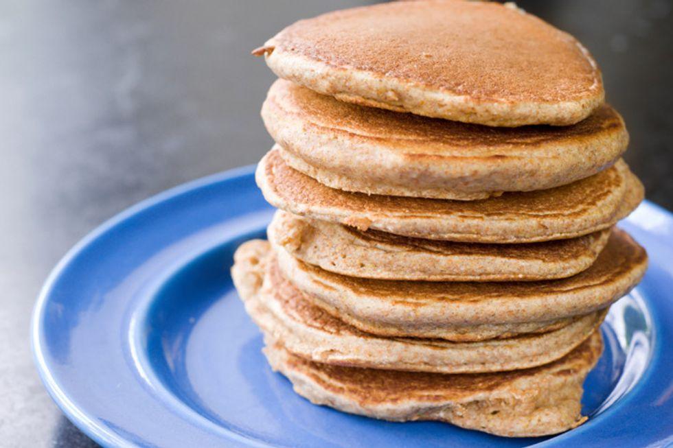 Cornmeal, Almond, and Yogurt Pancakes