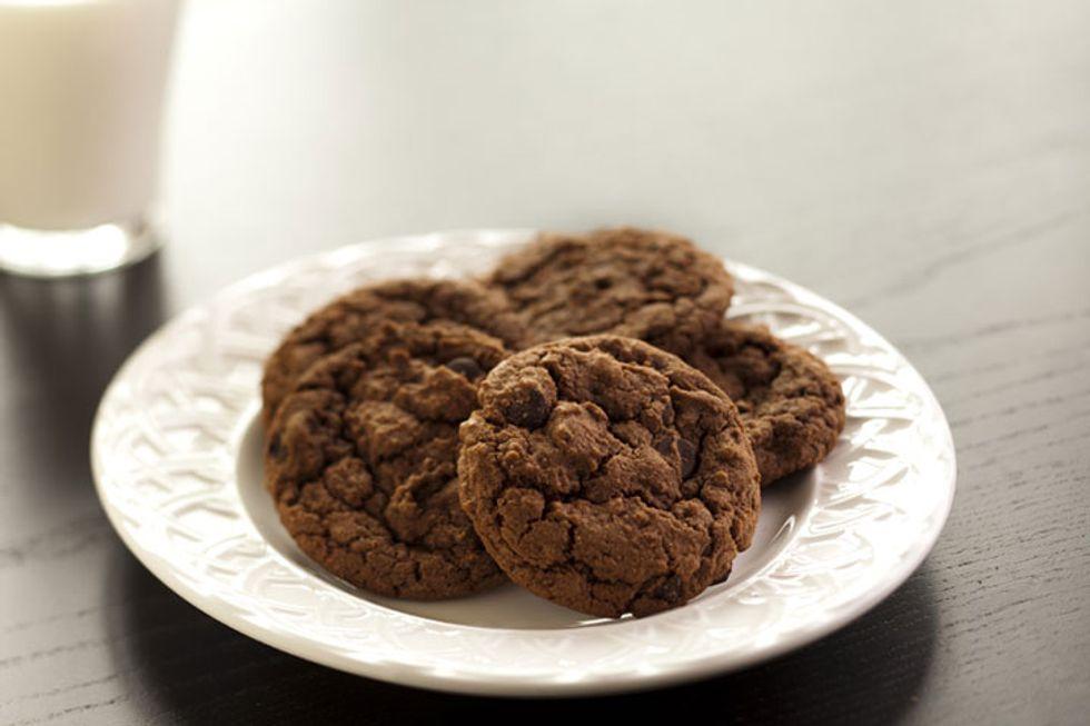 Triple Chocolate Chocolate Chip Cookies