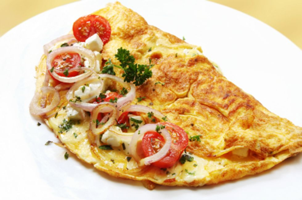 Tomato, Spinach and Feta Omelet