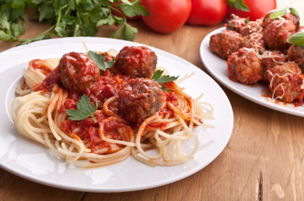 Heart Smart Turkey Meatballs with Sauce and Whole Wheat Pasta