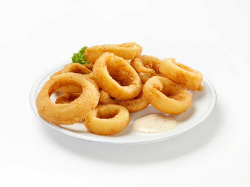 Rocco's Faux-Fried Onion Rings with Smokey Mayonnaise