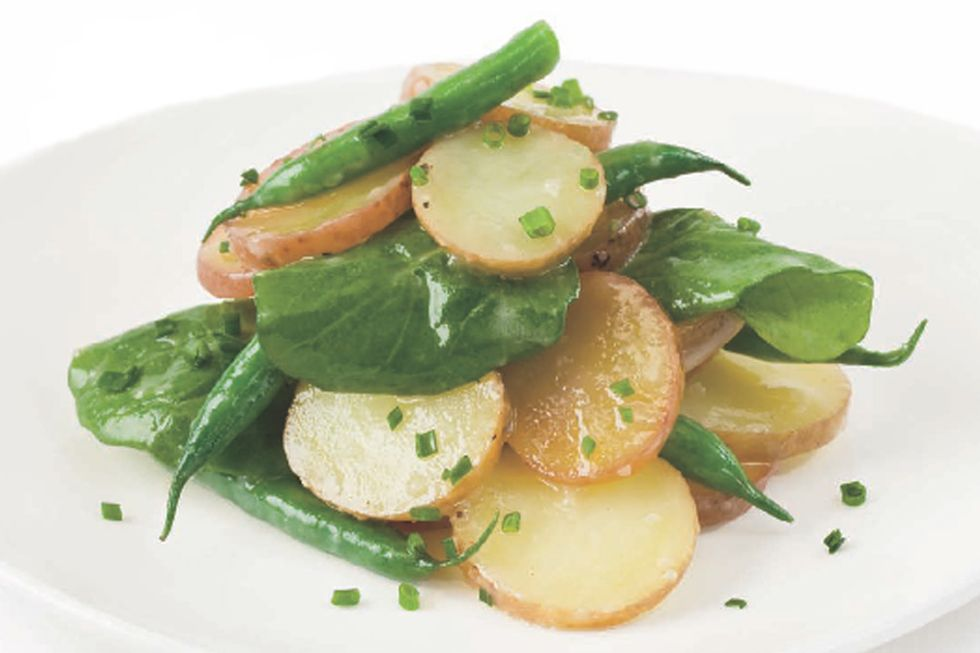 Tal Ronnen's Green Bean and Fingerling Potato Salad with Miso Dressing
