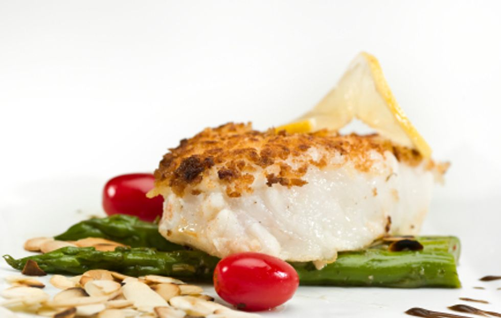 Dave Lieberman's Almond and Herb Baked Halibut