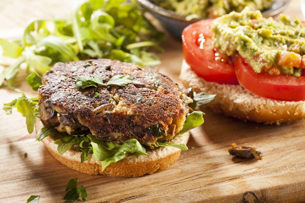 Meatless Veggie Burger