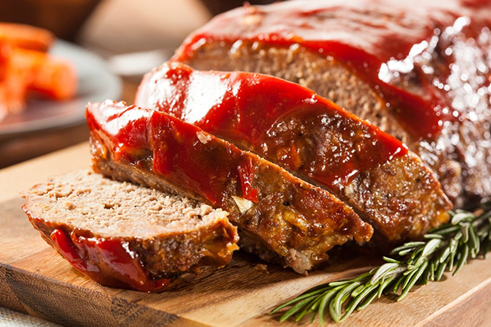 Turkey Meatloaf With Sprouted Grain Bread Crumbs
