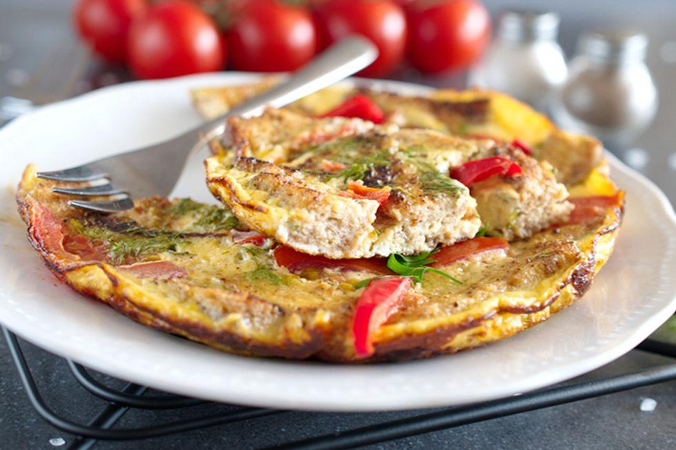 90 Second Greek Omelet