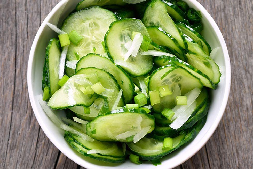 Cantaloupe & Cucumber Salad