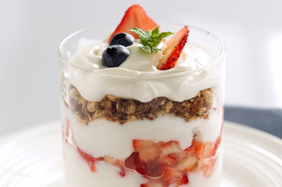 Peanut Butter and Strawberry Greek Yogurt Parfait