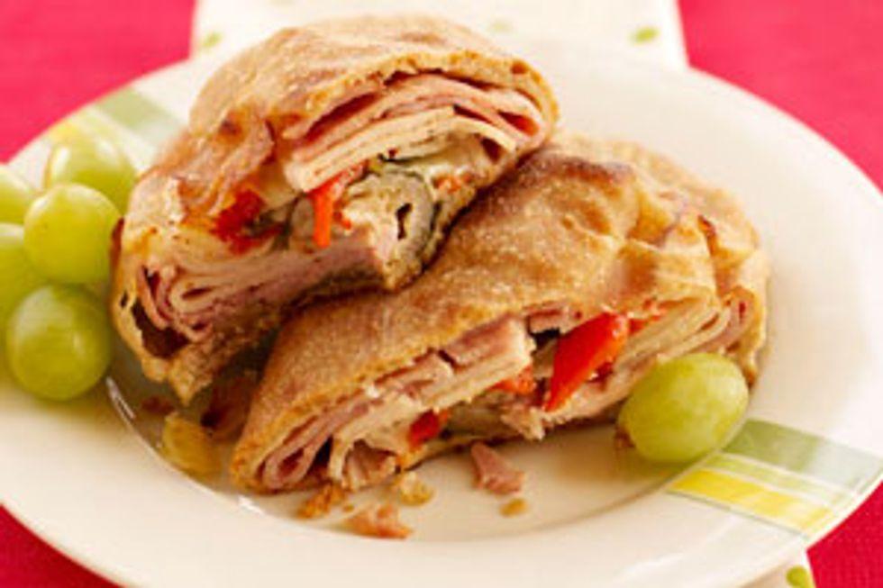 Ham and Turkey Stromboli