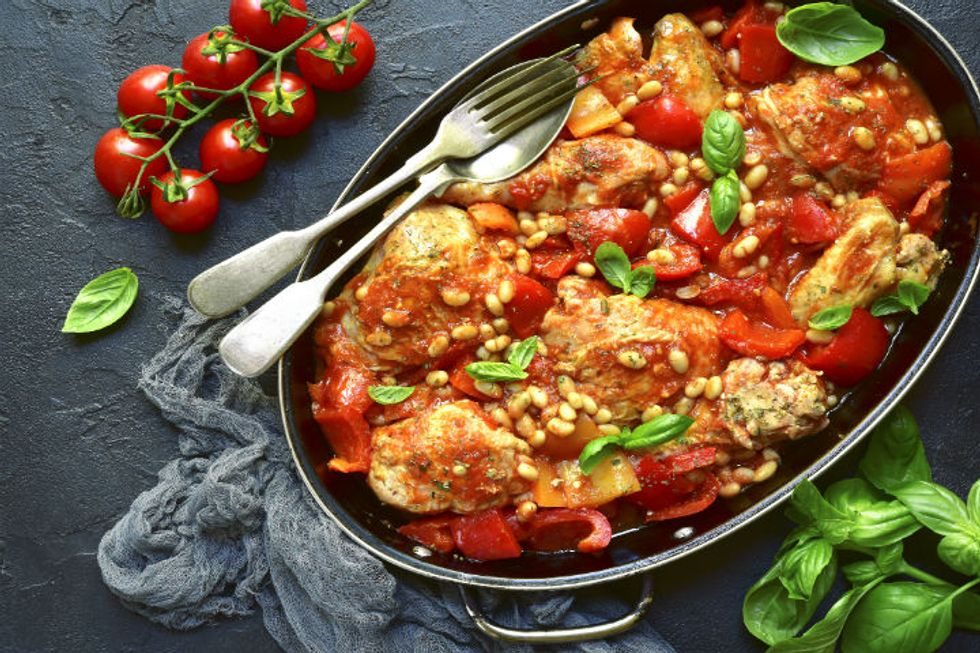 The Pioneer Woman's Tuscan Chicken Sheet Pan Supper