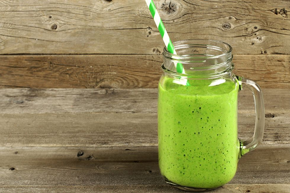 J.J. Smith's Orange Spinach Green Smoothie