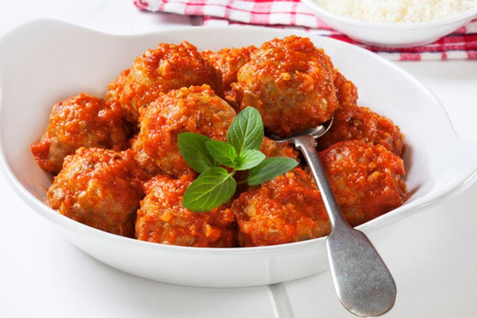 Gluten-Free Chicken Meatballs With Zucchini Pasta