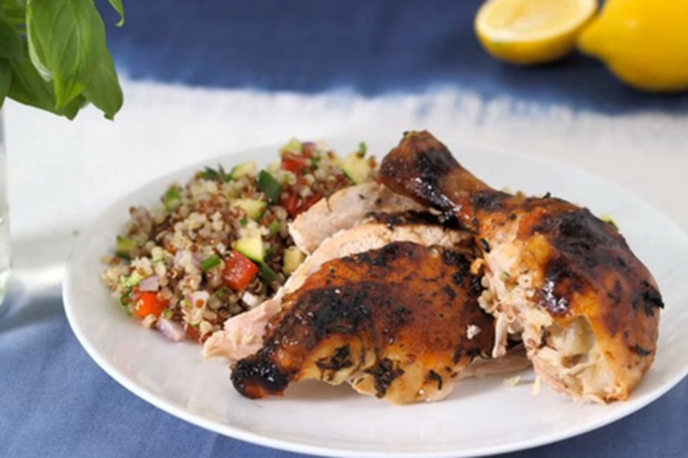 Lemon-Basil Roast Chicken