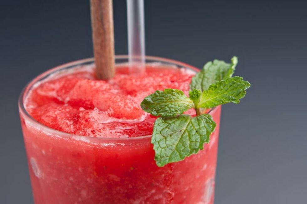 Watermelon and Basil Margaritas