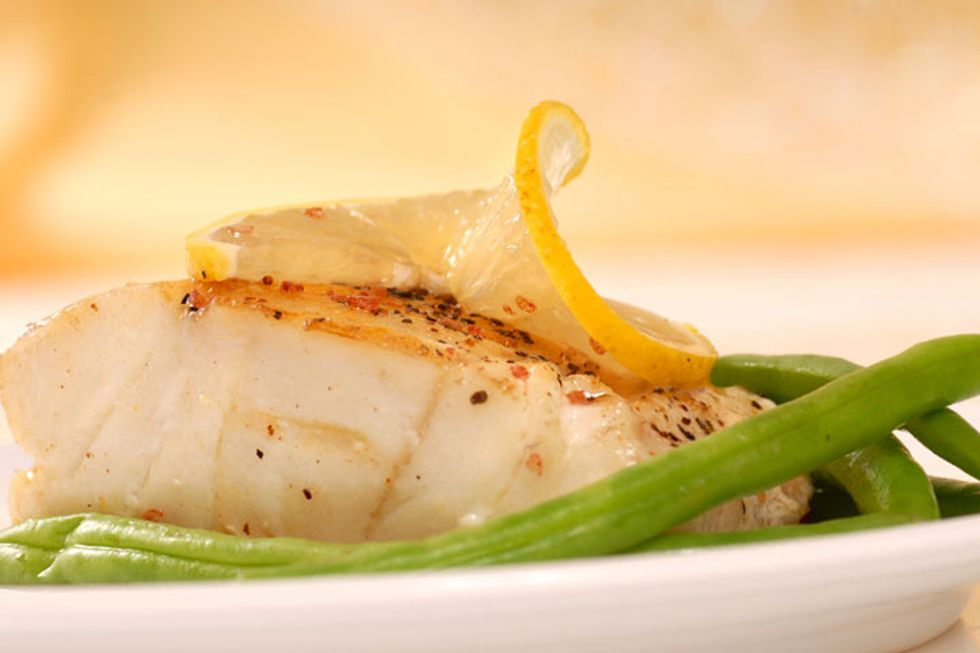 Sautéed Cod with Leek, Garlic & Tarragon Sauce