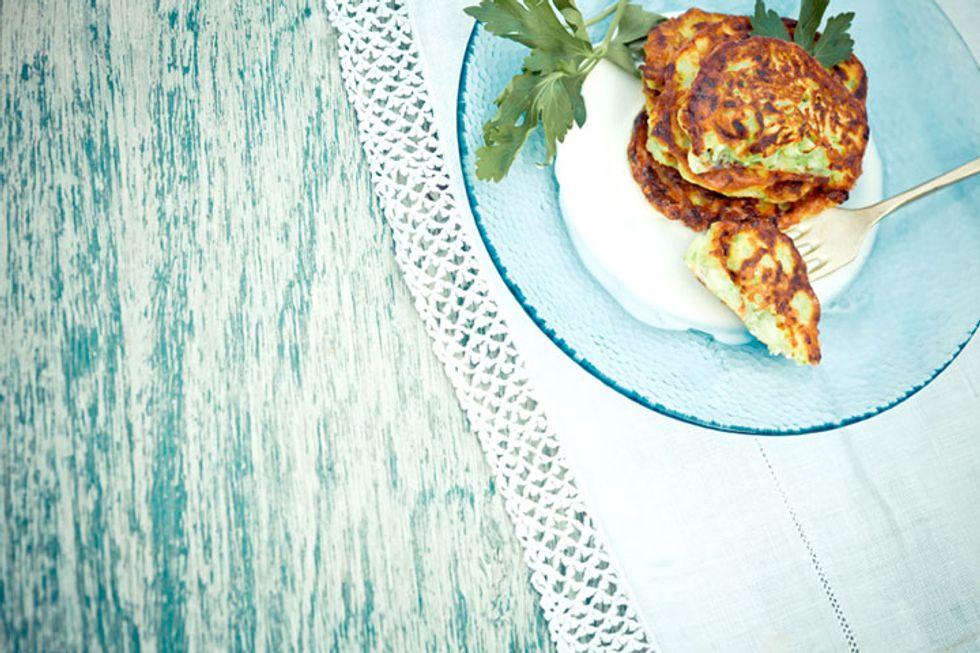 Walnut Zucchini and Potato Pancakes