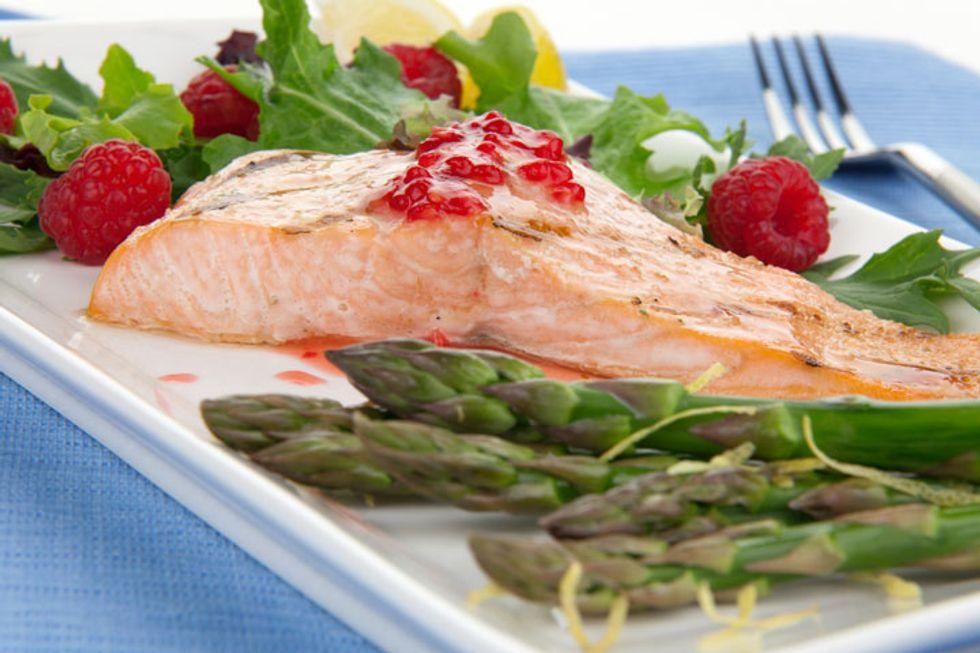 Salmon With Raspberry-Balsamic Glaze