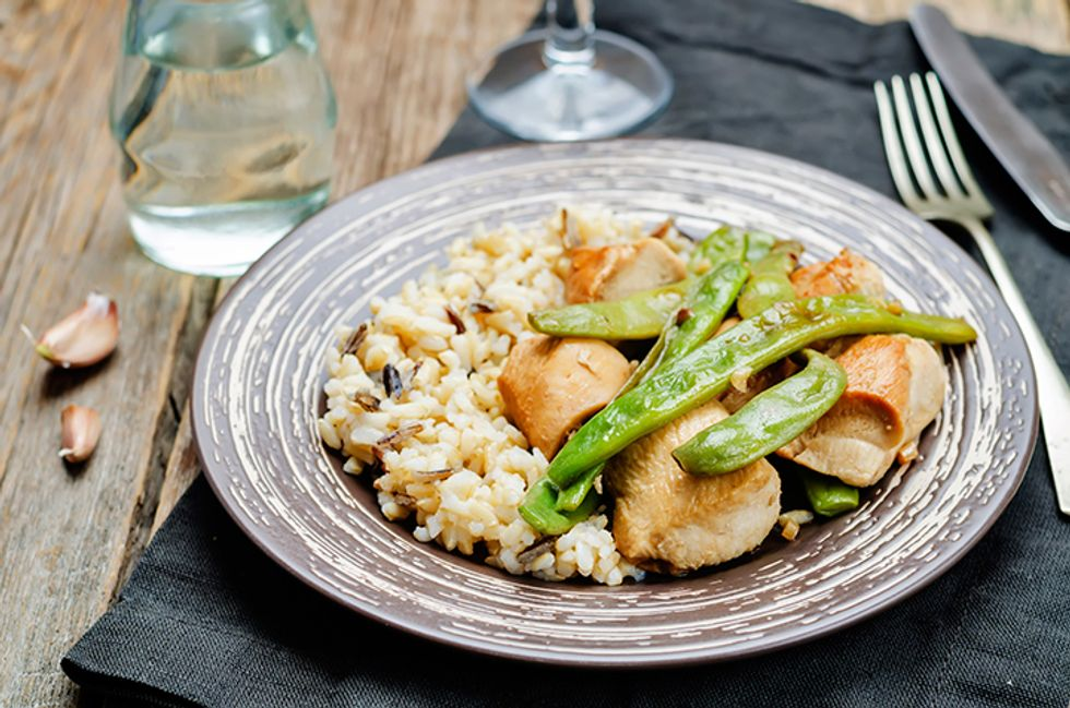 Wolfgang Puck's Spice-Rubbed Chicken Breasts and Fried Rice