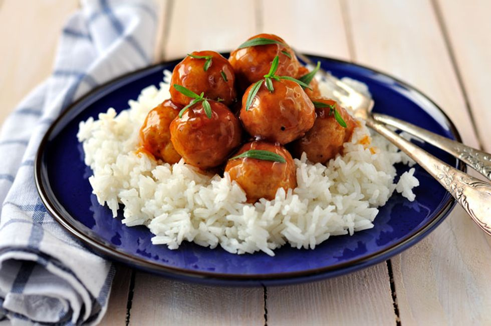 Chia Seed Pork Meatballs With Spicy Ginger-Soy Glaze