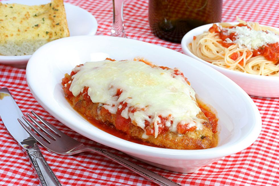 Hungry Girl's Chicken Parm With Saucy Pasta Swap