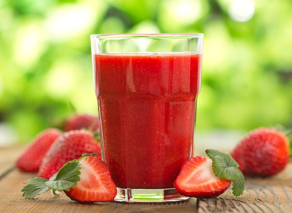 Strawberry and Tahini Protein Shake