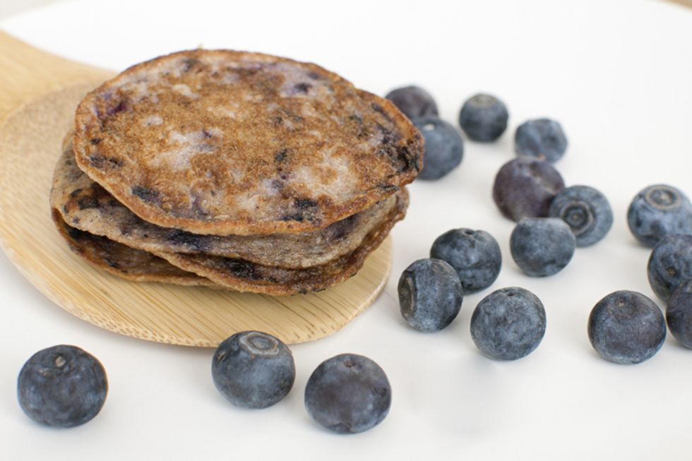 Cottage or Ricotta Cheese Oatmeal Pancakes