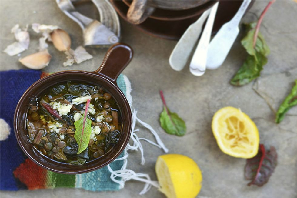 Colleen's Slow Cooker Lentil and Swiss Chard Stew