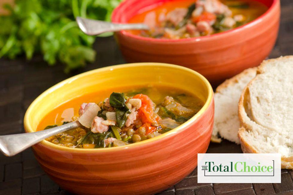 Total Choice Crock-Pot Lentil and Kale Soup