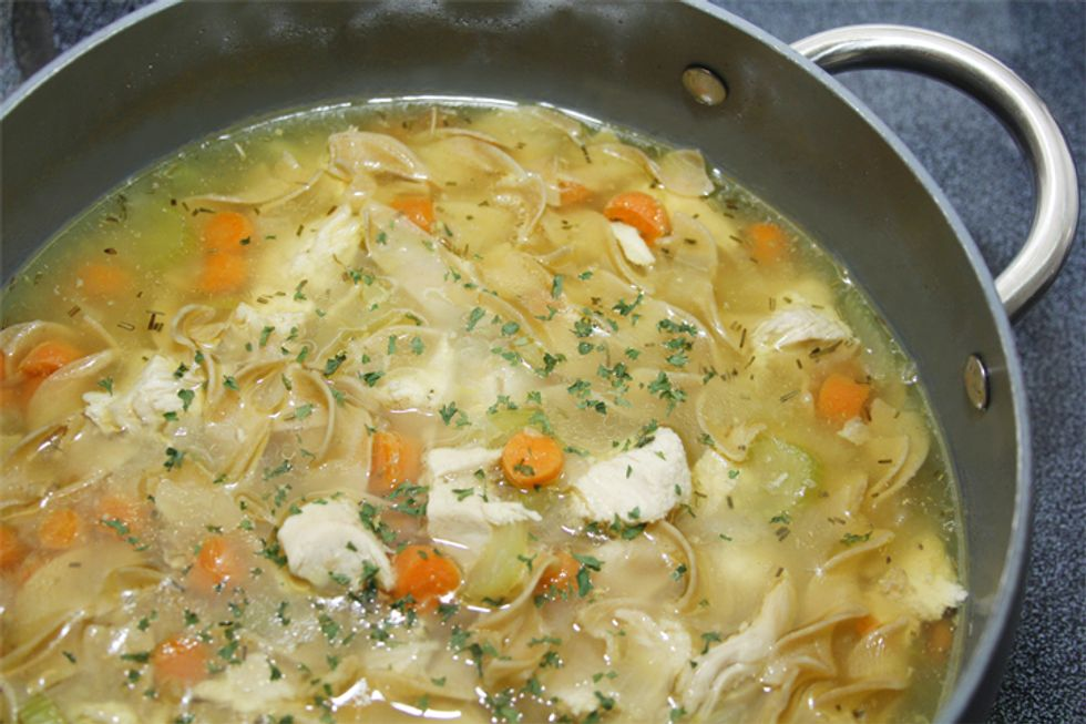 Thai Green Curry Chicken Noodle Soup