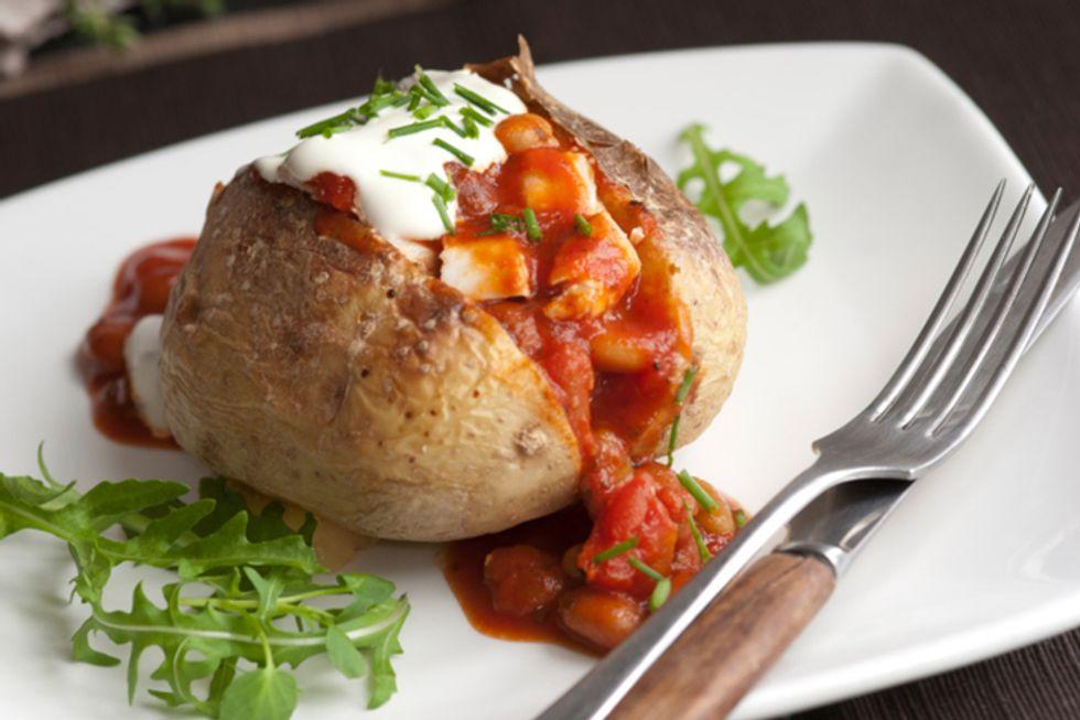 Hungry Girl's Chicken Marinara Stuffed Potato
