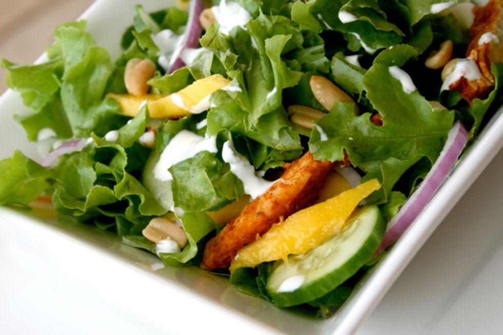 Ginger Coconut Summer Salad With Organic Chicken