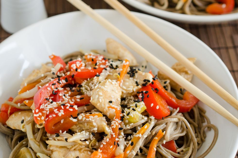 Dr. Andrew Weil's Cold Buckwheat Noodles With Chicken or Tofu and Vegetables