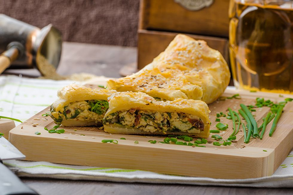 Vegetable Strudel With Cream