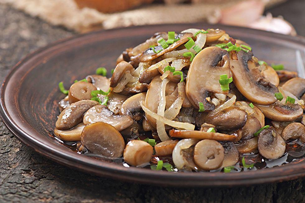 Day-Off Diet Chicken Paillards Marinated Mushrooms