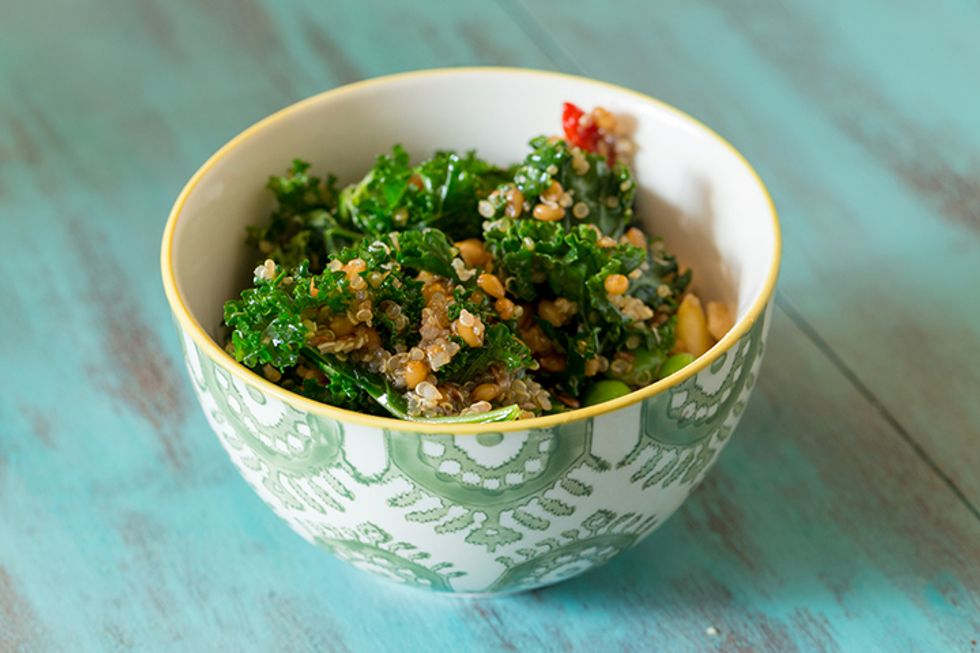 Day-Off Diet Farro Salad With Sautéed Kale