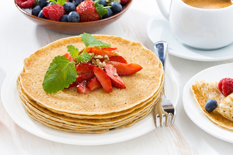 Hungry Girl's Day-Off Diet Strawberry Almond Crepes