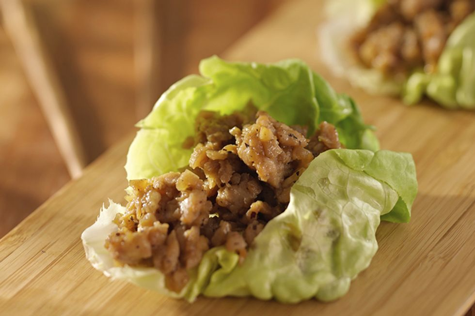 Hungry Girl's Day-Off Diet Lettuce-Wrapped Turkey Burger With Southwestern Black Beans