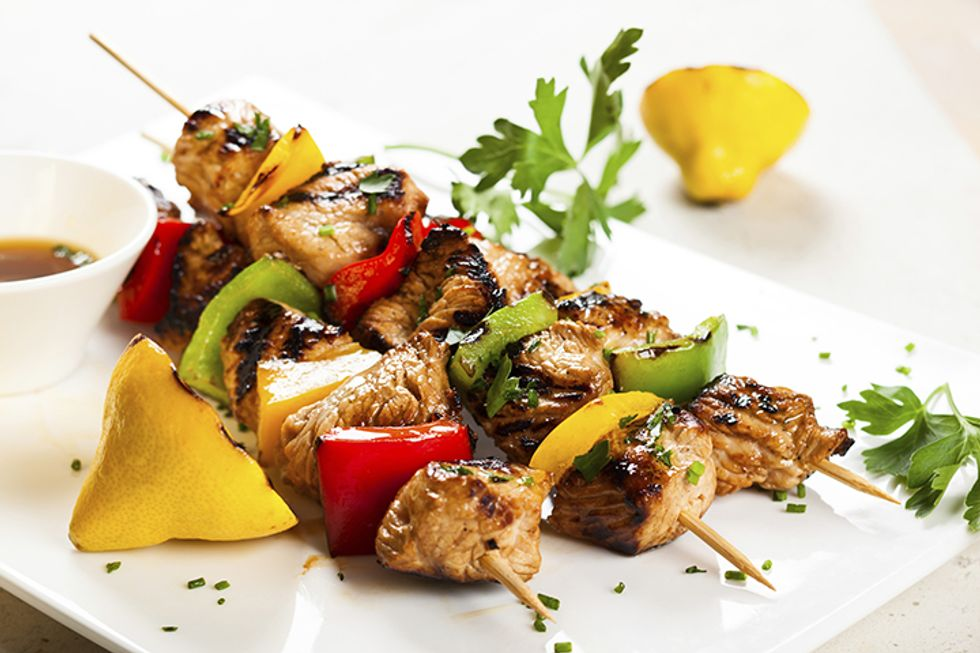 Hungry Girl's Day-Off Diet Chicken and Veggie Kebabs