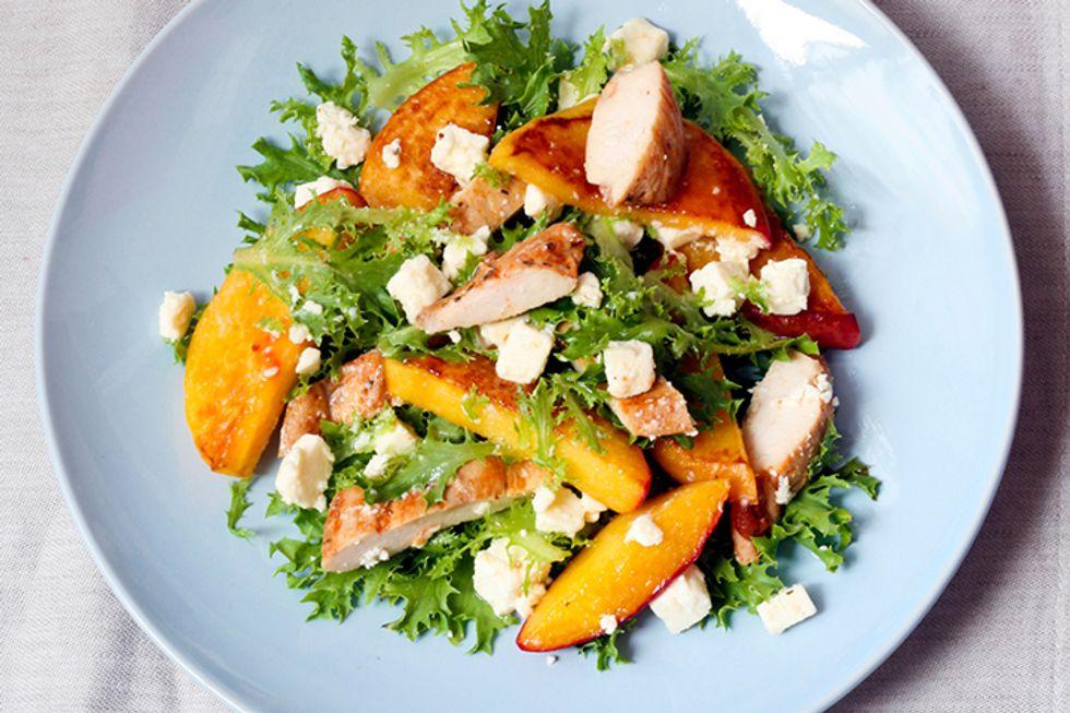 Peach, Cucumber, and Avocado Salad