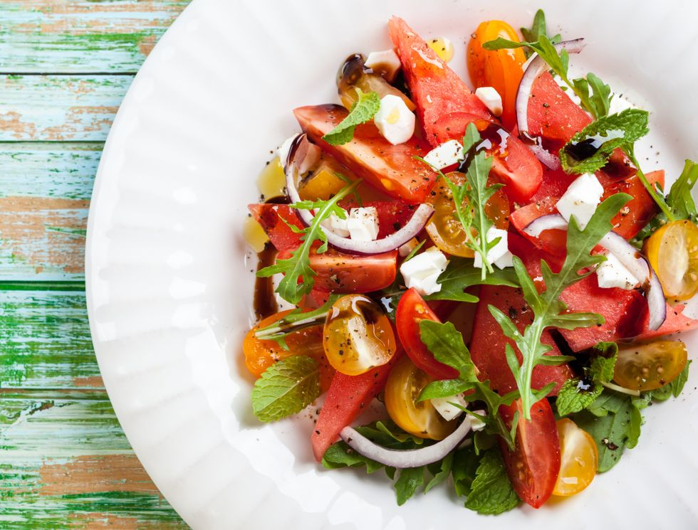 Lauren Conrad's Tomato and Watermelon Salad